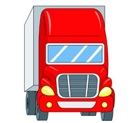 Semi Trailer Truck Red Front Clipart 4114