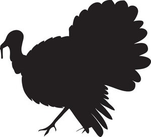 Turkey Clipart Image  Turkey Silhouette Outline