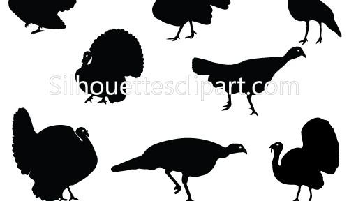 Wild Turkey Silhouette Clipart
