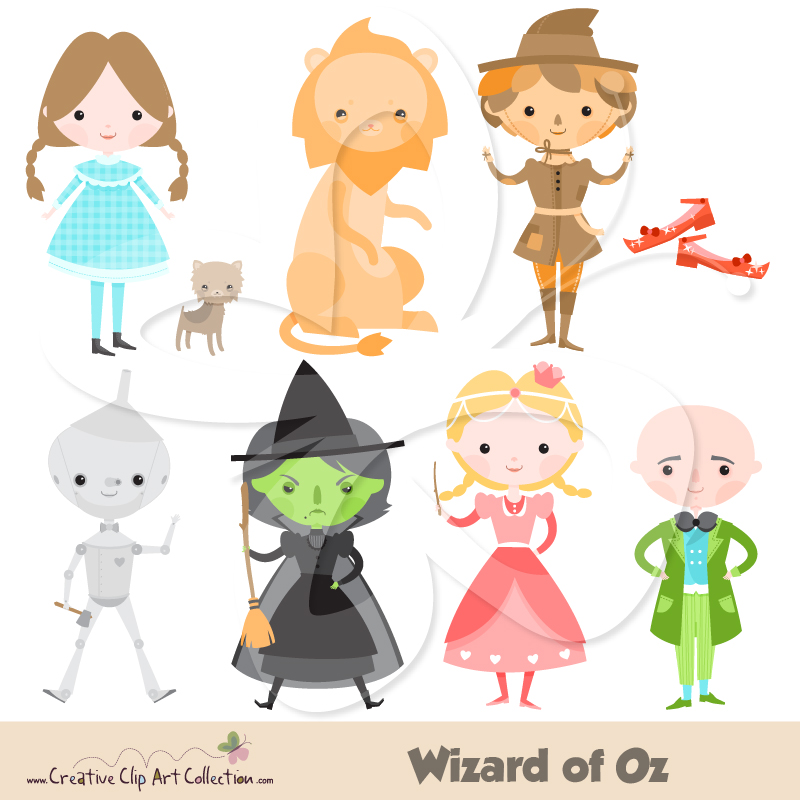 Clip Art Wizard Of Oz Clip Art wizard of oz clipart kid set creative collection