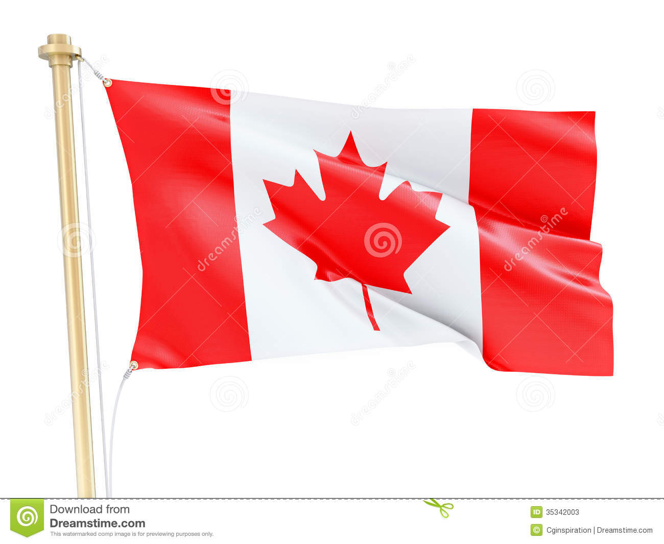3d Clip Art Of Canadian Flag