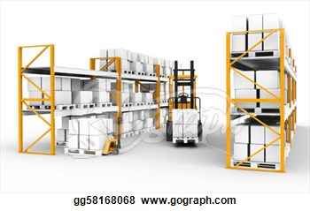 Clip Art   Shelves Pallets And Trucks  Part Of Warehouse Series