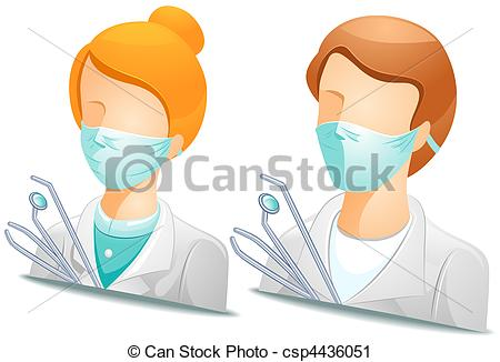 Clipart Of Dentist Avatars   Dentist Csp4436051   Search Clip Art