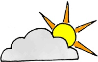 Clipart Partly Cloudy