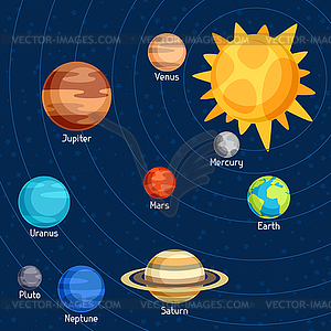 Clip Art Solar System Clipart solar system clipart kid cosmic with planets of vector clip art