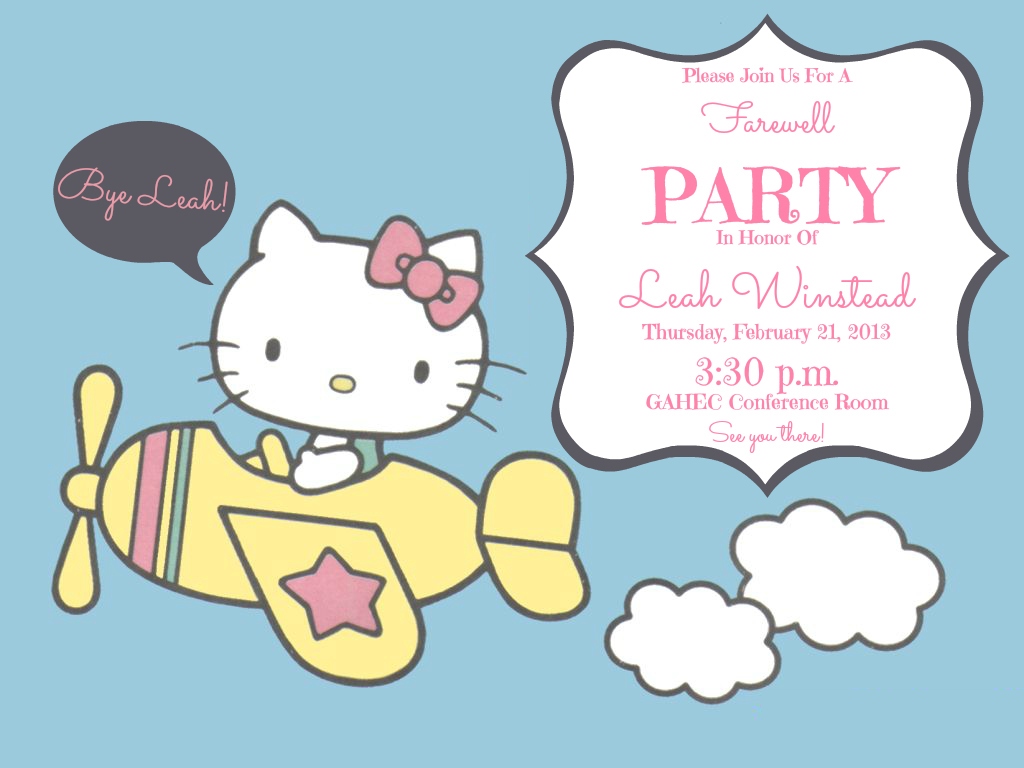Goodbye Party Clipart Clipart Kid – Leaving Party Invitation Template