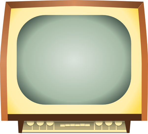 Old Tv Screen Clipart Old Tv Clip Art   Vector Clip