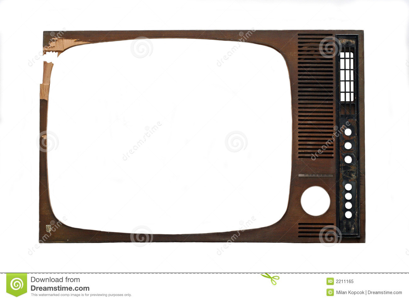 Old Tv Screen Clipart Tv Frame