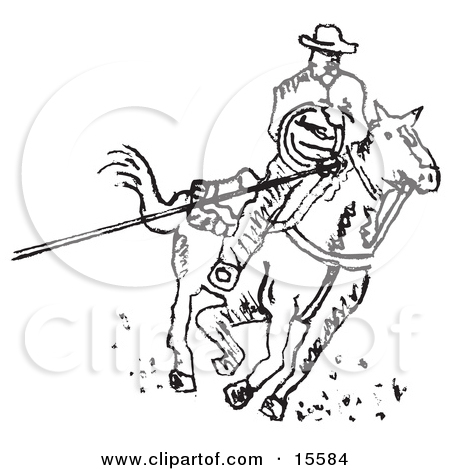 Royalty Free Cowboy Illustrations By Andy Nortnik Page 1