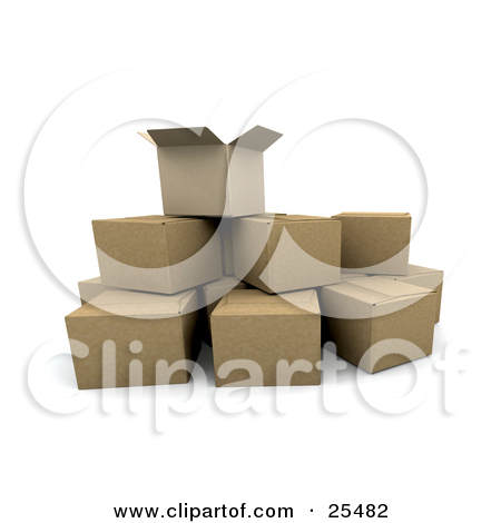 Royalty Free  Rf  Clipart Of Boxes Illustrations Vector Graphics  1