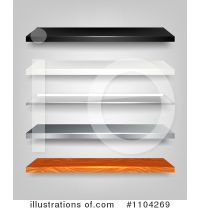 Shelves Clipart  1104269   Illustration By Vectorace