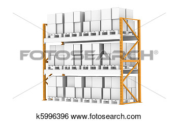 Stock Illustration   Warehouse Shelves   Fotosearch   Search Clip Art