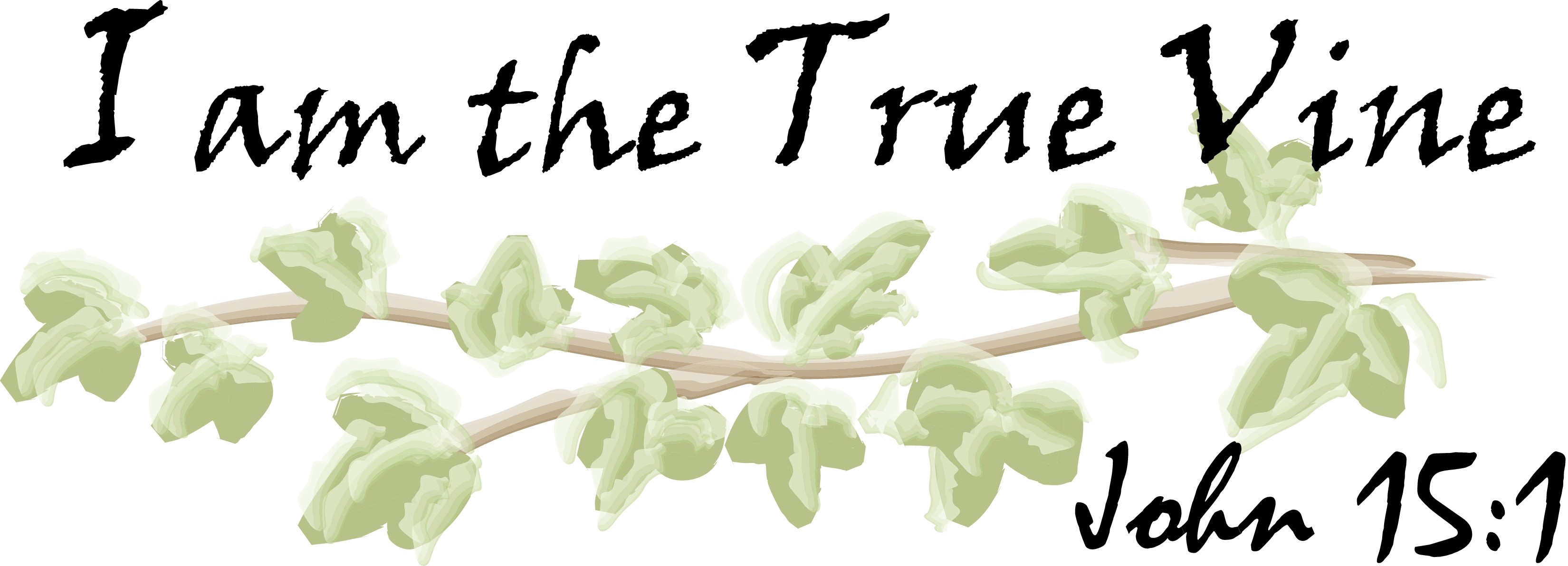 I Am The Vine Clipart