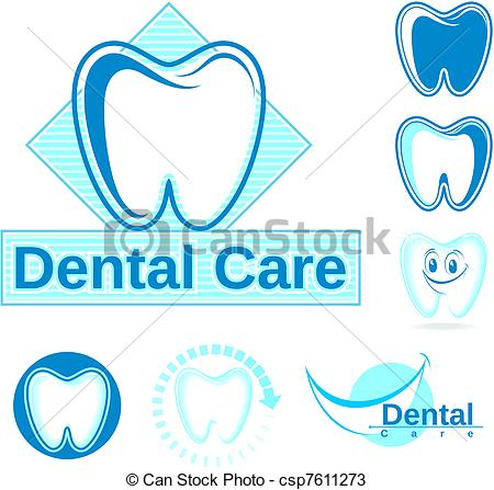 Vectors Of Dental Logo Vector Clipart   Set Of Dentistry Vector