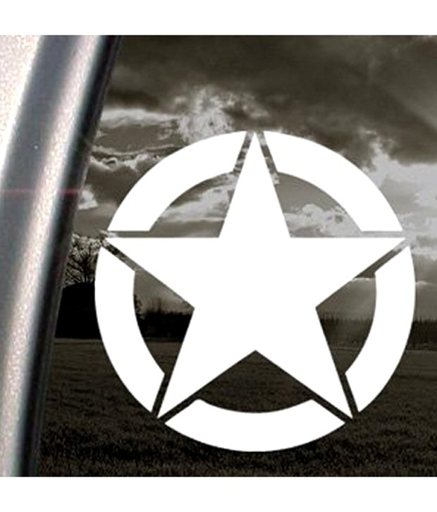 Army Star Logo Wwii Wwii Jeep Army Star Marines Decal Window Sticker