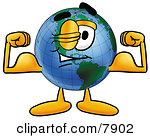 Clipart Picture Of A World Earth Globe Mascot Cartoon Character