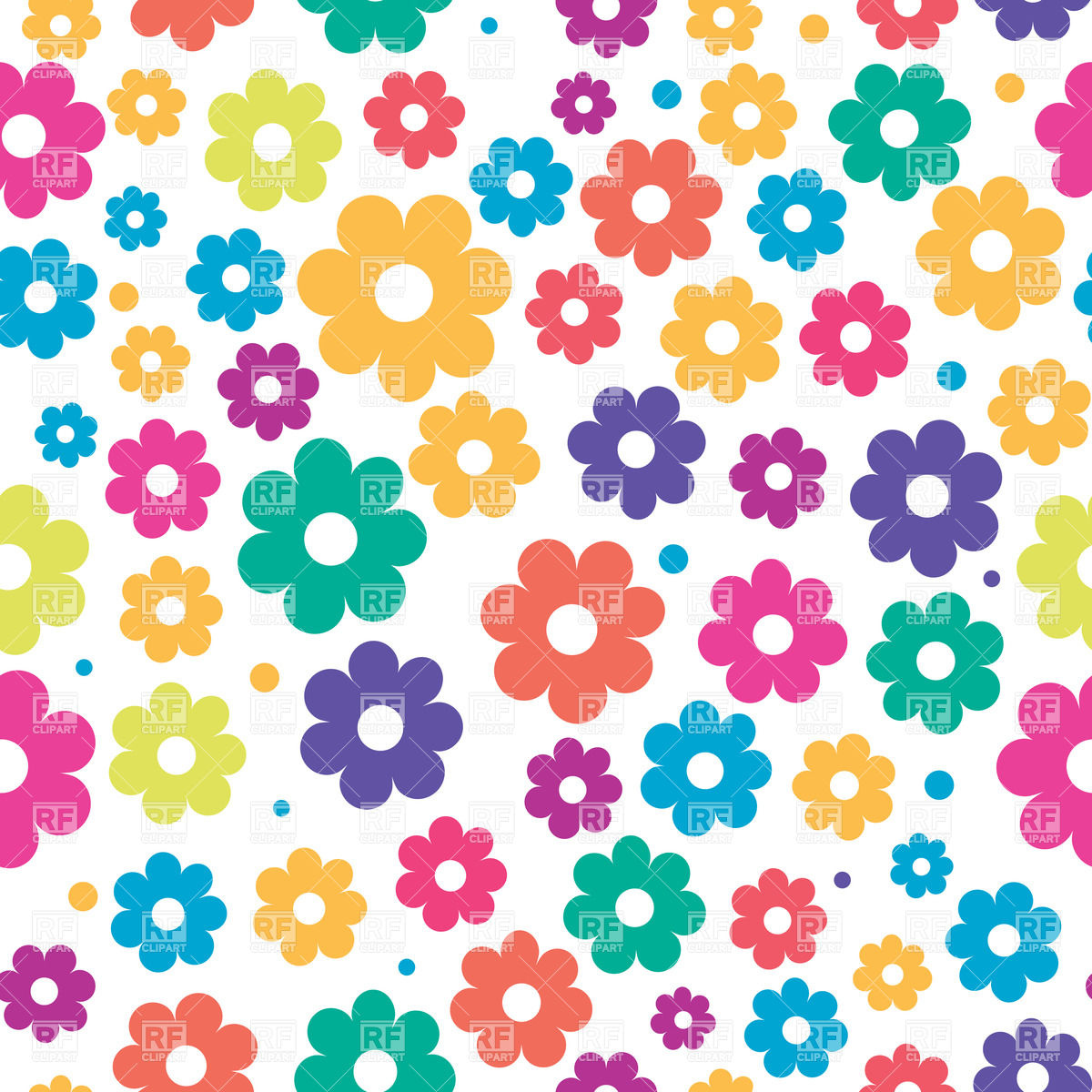 Cute Floral Seamless Background 24070 Download Royalty Free Vector