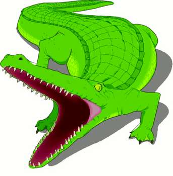 Free Cartoon Clipart Picture Of A Crocodile With It S Mouth Open