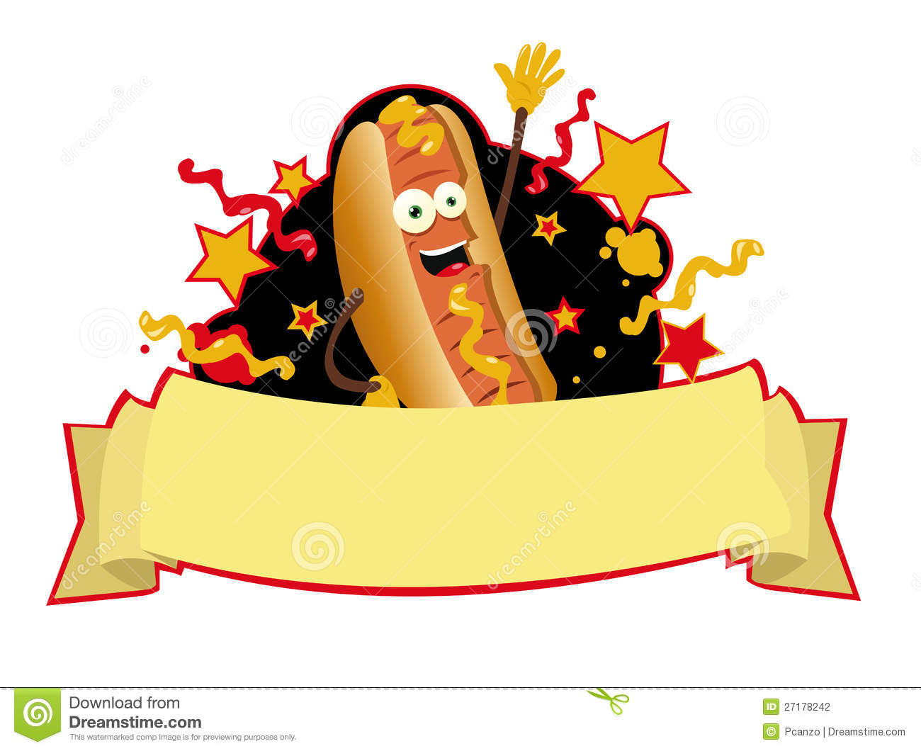 Funny Hot Dog Banner Stock Photography   Image  27178242