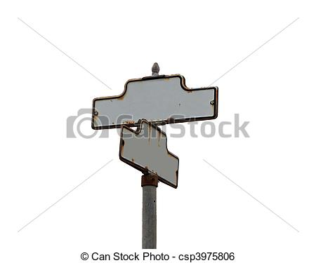 Image Of Vintage Old Street Sign Blank With Copy Space   Vintage Old