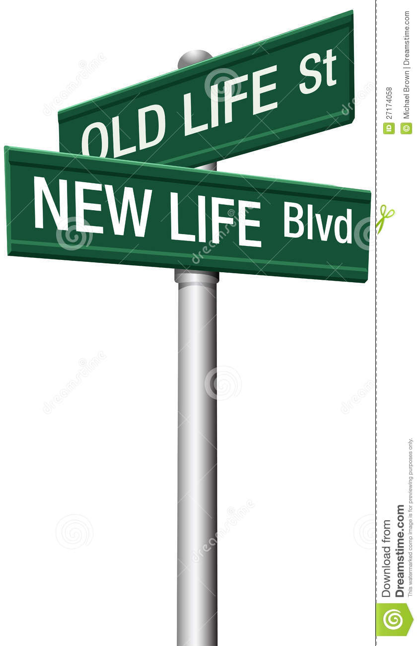 New Life Or Old Change Street Signs Royalty Free Stock Photos   Image