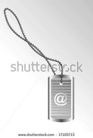 Or Dog Tag Or Identity Plate Stock Photos Vector Identity Tag Or Dog