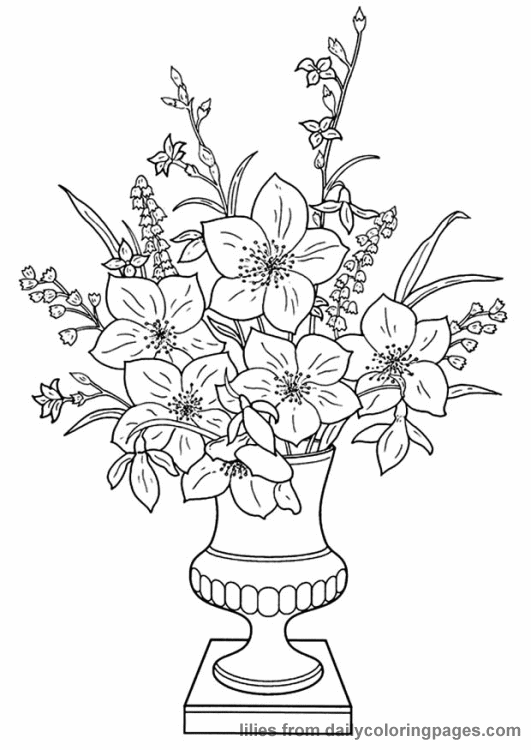 Realistic Flower Coloring Pages 11