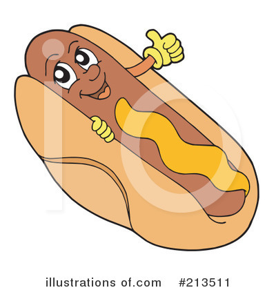 Royalty Free  Rf  Hot Dog Clipart Illustration By Visekart   Stock