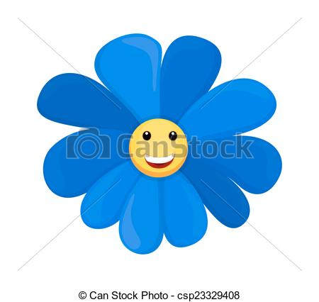Vector Clipart Of Happy Smiley Sunflower   Happy Smiley Face