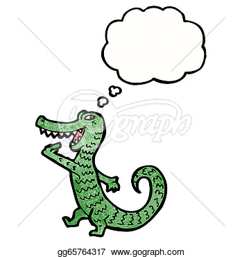 Vector Illustration   Hungry Alligator Cartoon  Eps Clipart Gg65764317