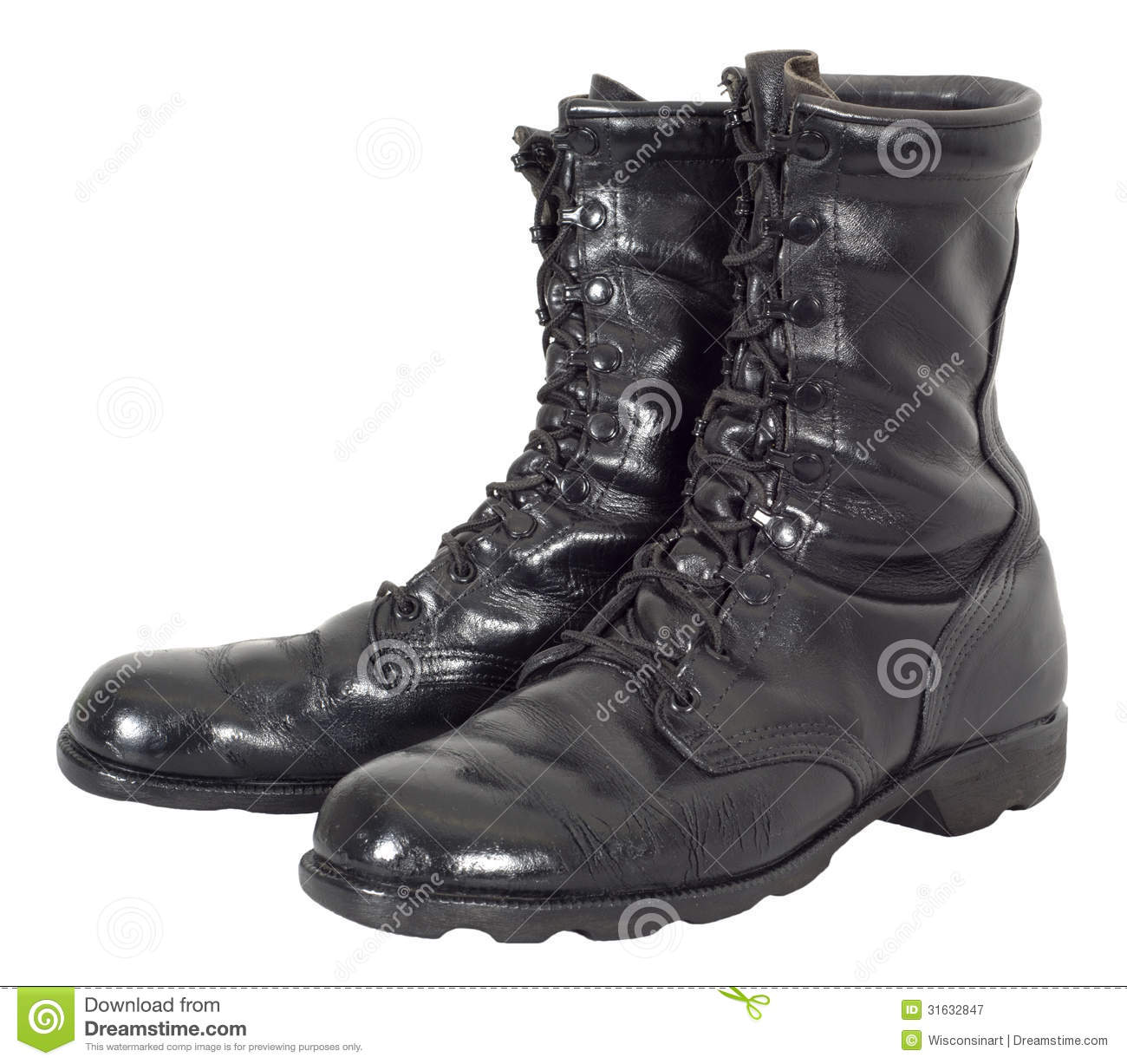 Army Boots Clipart Black Army Boots Isolated