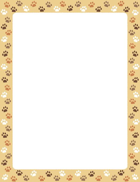 Cat Paw Border Clipart - Clipart Kid