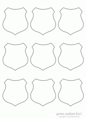 Blank Shields   Print  Color  Fun  Free Printables Coloring Pages