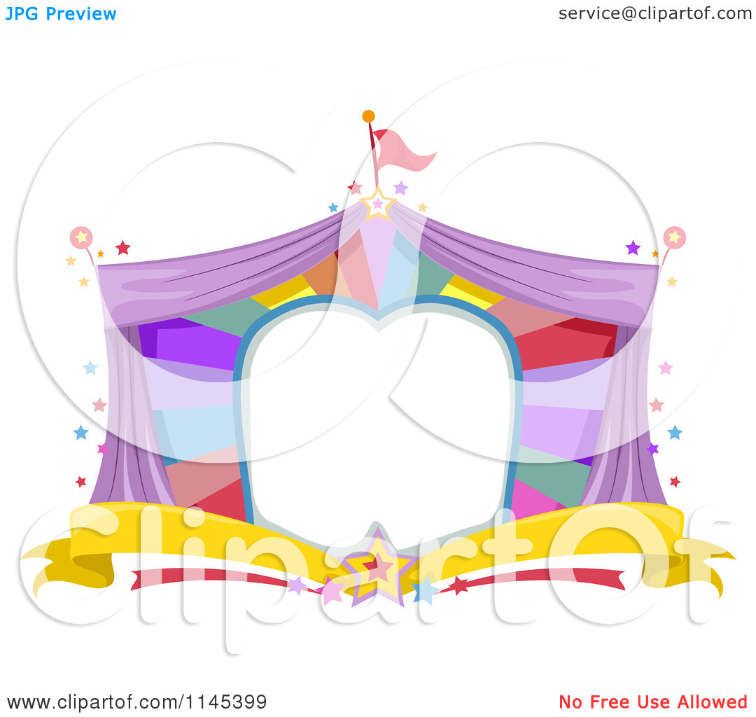 Carnival Tent Clipart Cartoon Of A Circus Tent Frame
