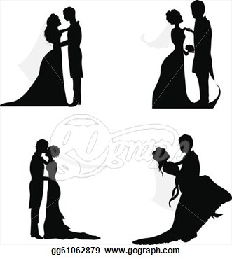 Eps Illustration   Wedding Couple Silhouettes For Wedding Occasions