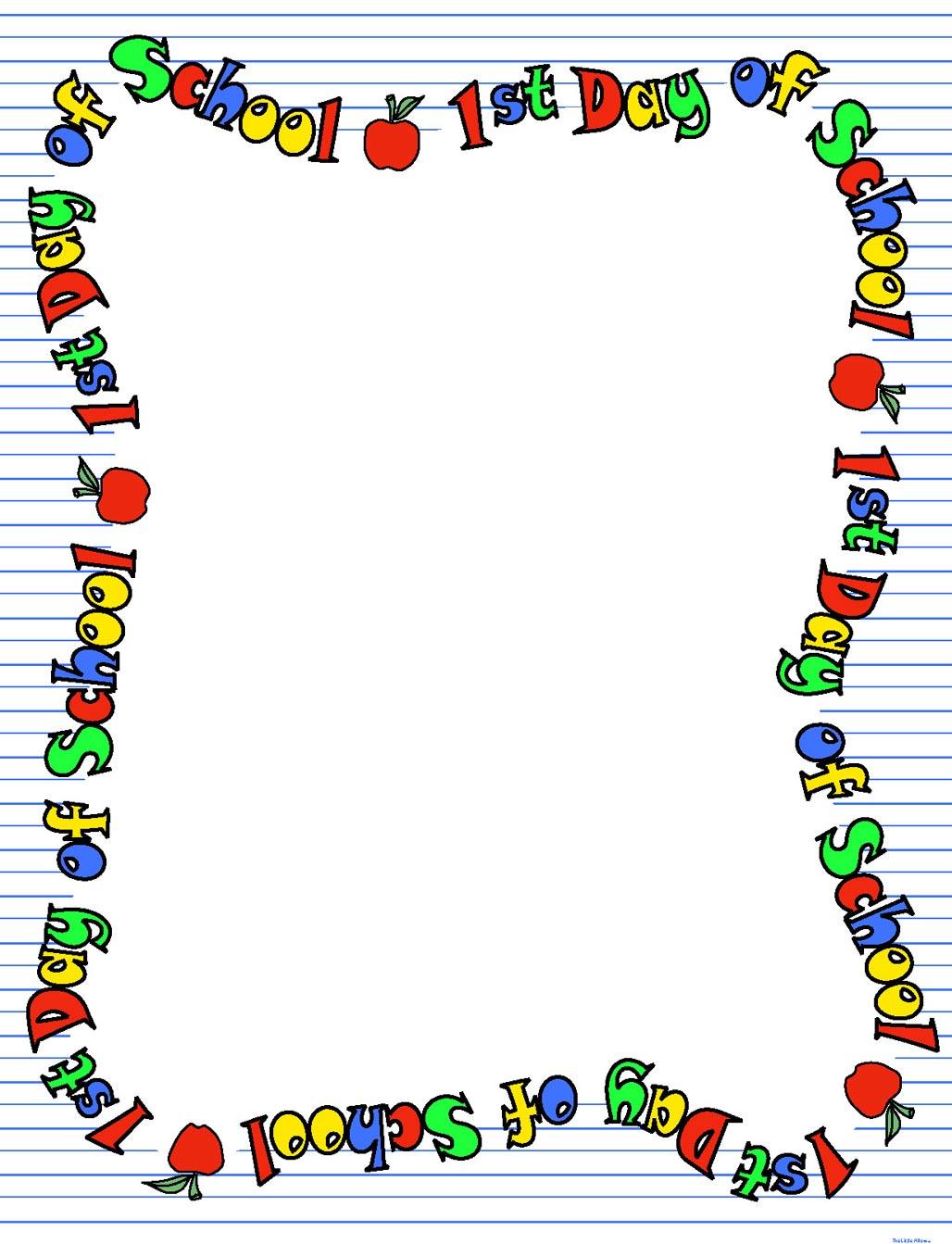 School Border Clipart - Clipart Suggest