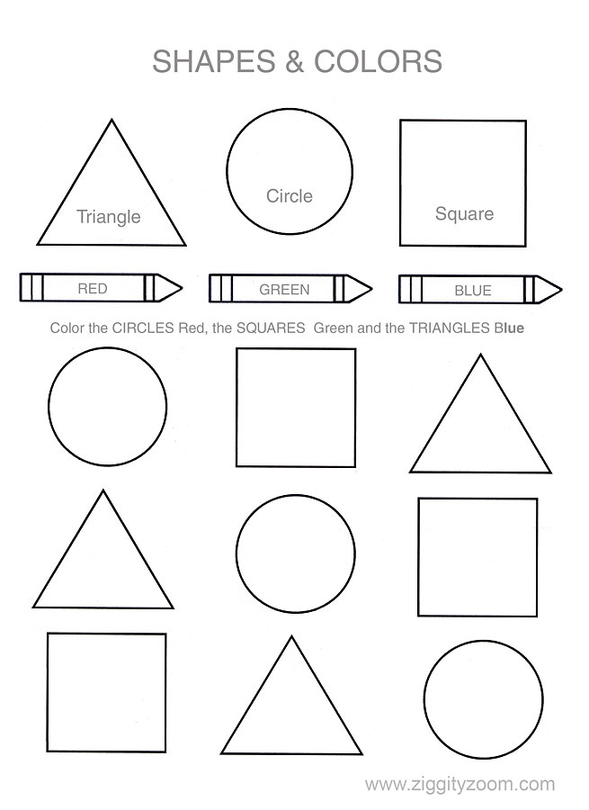 Help Your Child Or Class Learn Their Shapes And Colors  This Basic