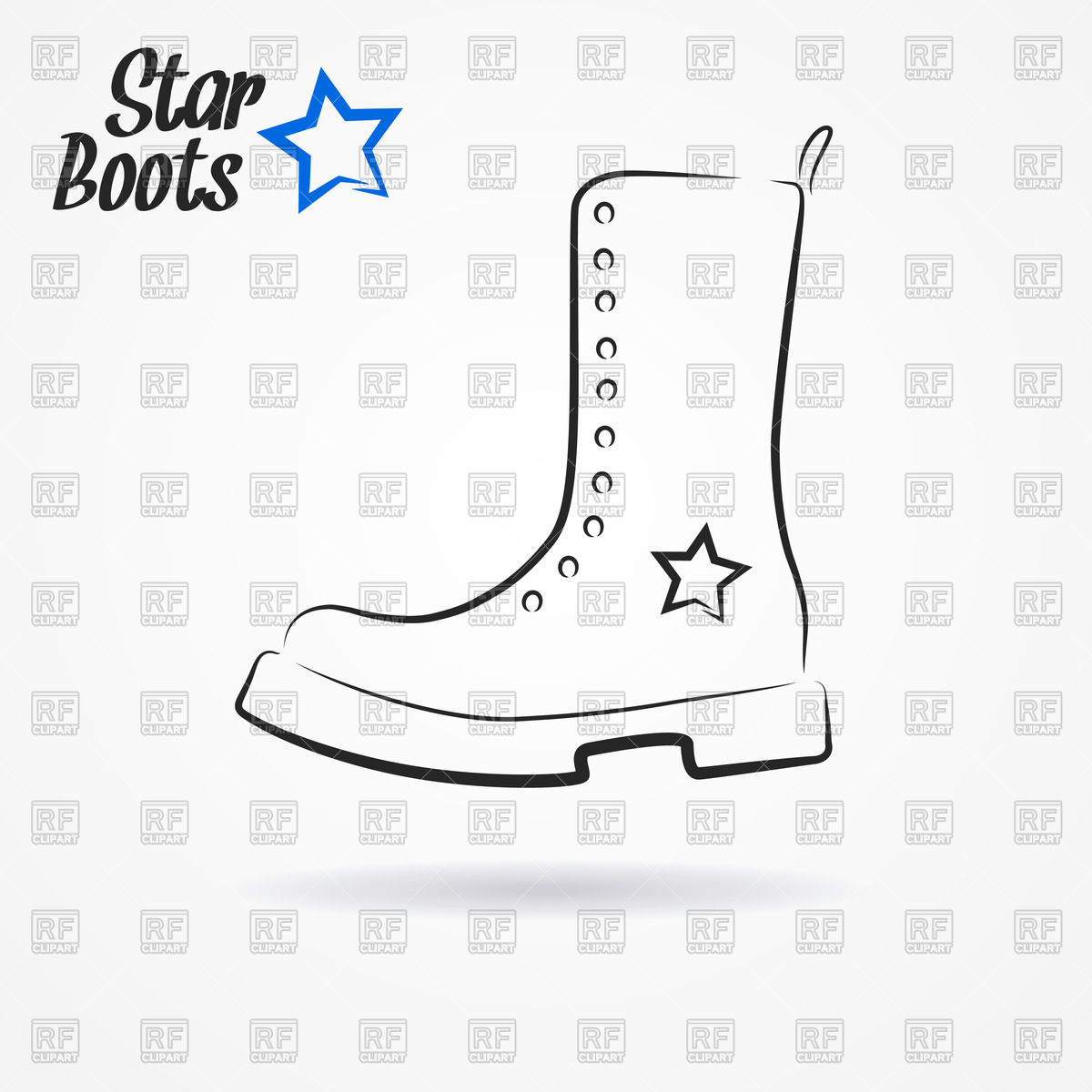 Military Boot   Star Boots Download Royalty Free Vector Clipart  Eps