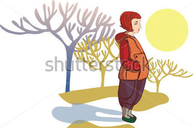 Of Spring Weather And Standing Girl Stock Vector   Clipart Me