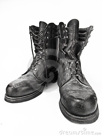 Old Military Boots Royalty Free Stock Photos   Image  18238068