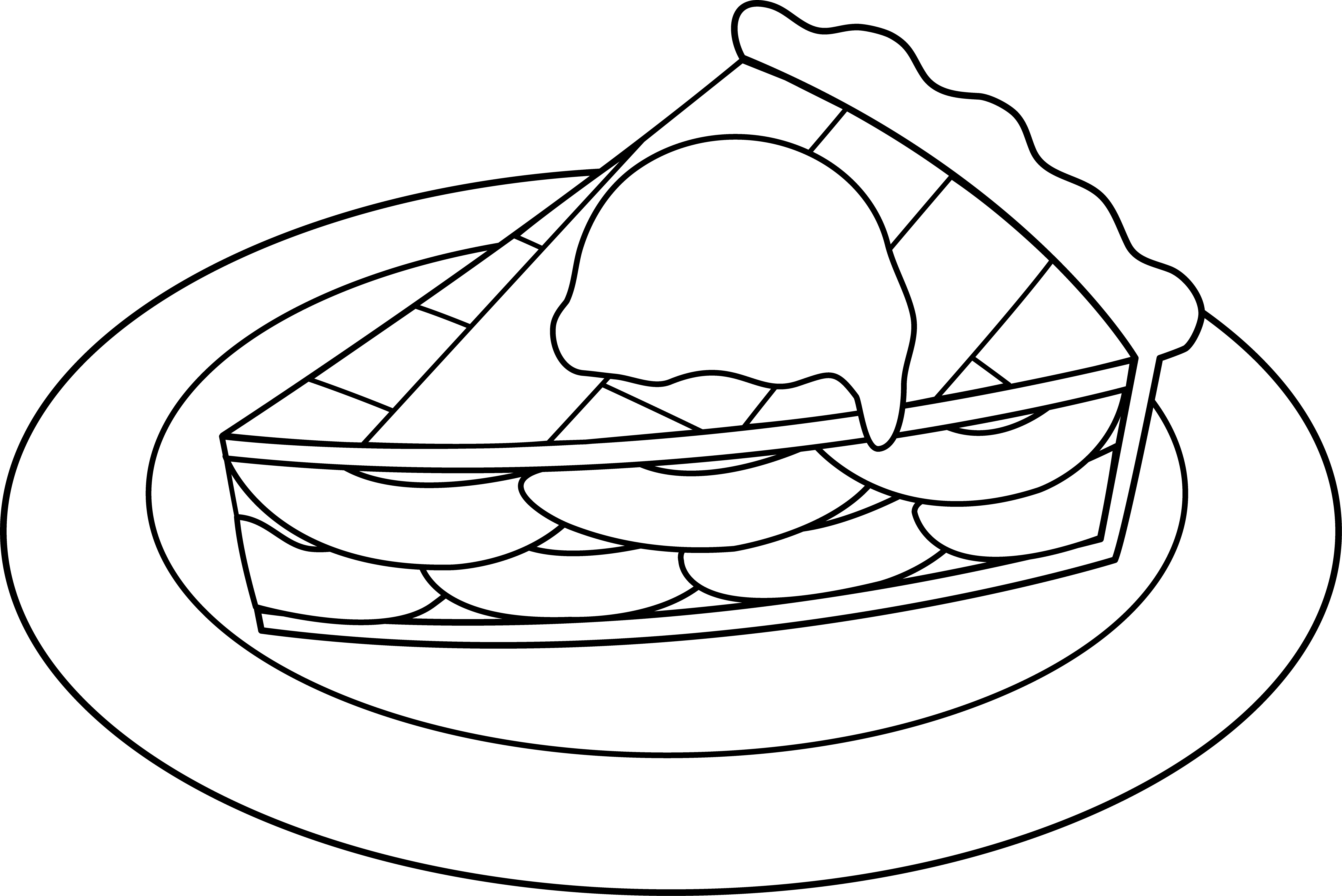 Pie Black And White Clipart Apple Pie With Ice Cream Clip