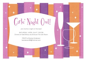Printable Girls Night Party Invitation Template