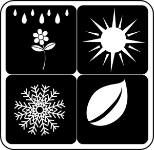 Seasons Clipart Image   Icons Of The Four Seasons Including Spring