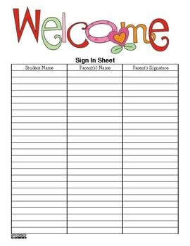 The Teacher S Ultimate Sign In Sheet  Pdf Version   Free  Back To