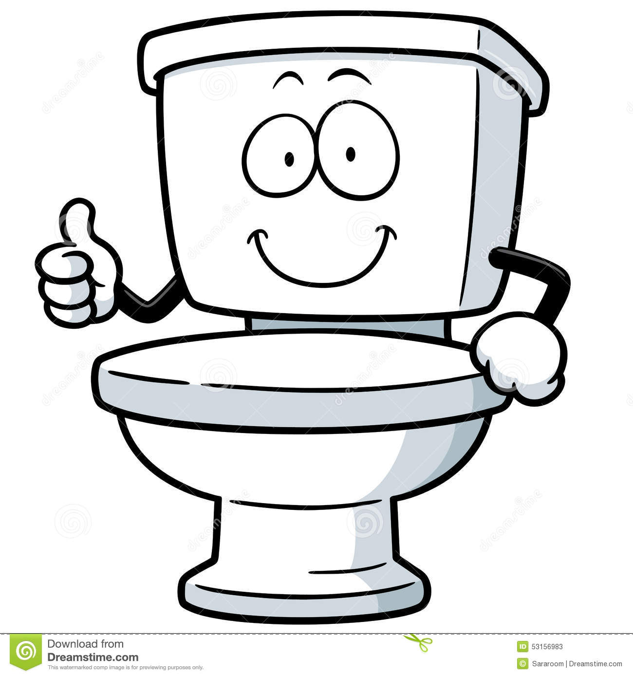Clip Art Clipart Toilet cartoon toilet clipart kid vector illustration of toilet