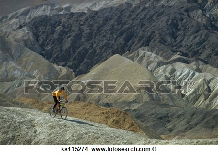 Bernadette Muhic Mountain Biking On Trail Near Death Valley Ca Usa