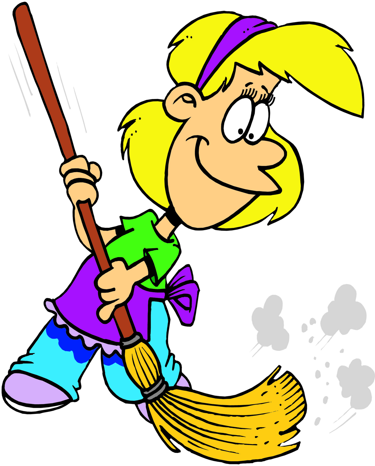 Cartoon Of A Cleaner