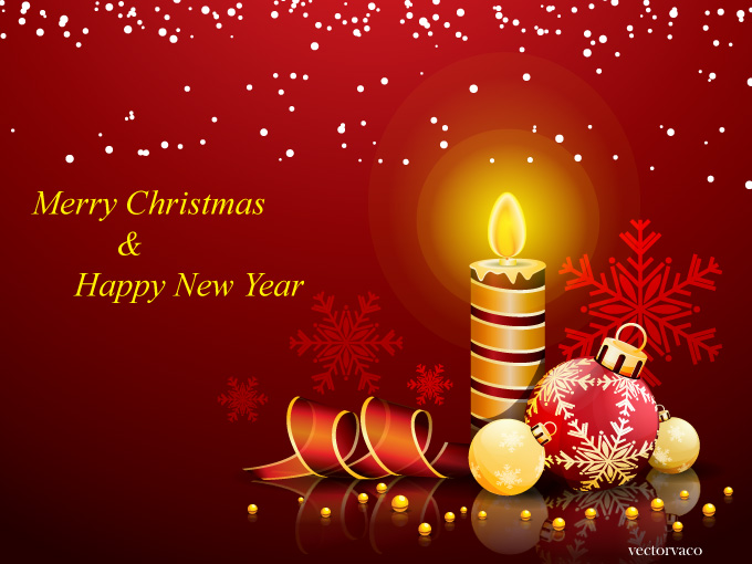 Christmas And New Year Greeting Card 11049   Free Vectors