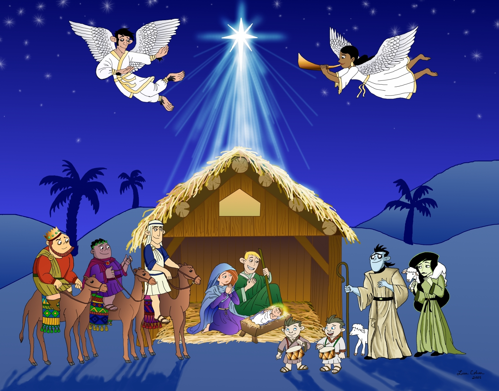 Free Religious Christmas Clip Art Black And White