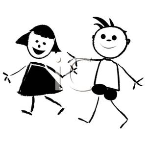 Two People Walking Clipart - Clipart Kid